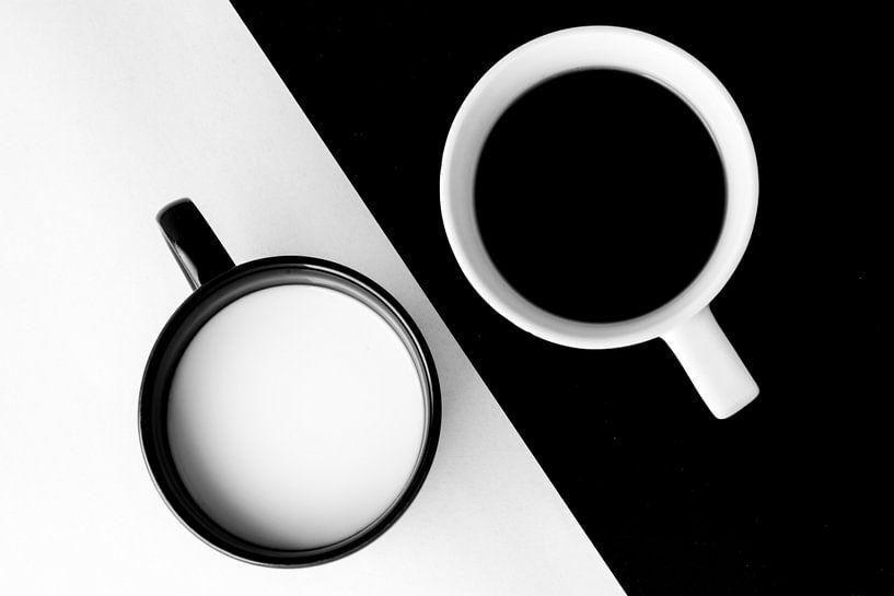 Drieluik ontbijtje: koffie en melk (1 van 3) van Alice Boerrigter