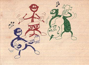 Drie musici van Marq van Broekhoven