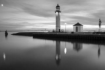 Leuchtturm in black & white von Miranda van Hulst