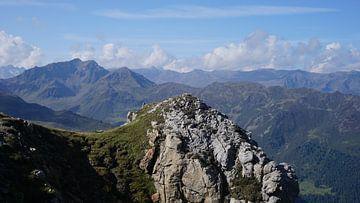 Bergtop in Axamer Lizum, Axams (Tirol, Oostenrijk) van Kelly Alblas