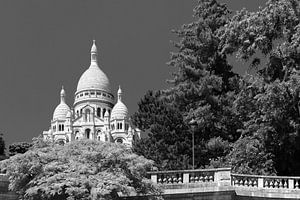 Sacre Coeur Parijs in Zwart-Wit van