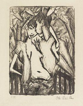 Zigeuner-liefdespaar, Otto Mueller, 1922 van Atelier Liesjes