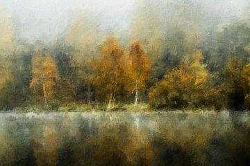 Bäume am See (Herbst, Gemälde)