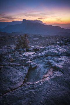 Jebel Shams Gebirgsmassiv im letzten Licht