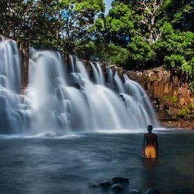 Tropische waterval, tropical waterfall van Corrine Ponsen