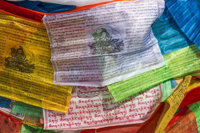 Gebedsvlaggen in Tibet van Erwin Blekkenhorst