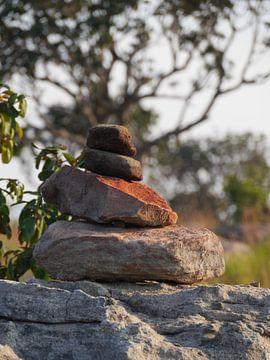 Ein Steinmänchen am Wegesrand von HGU Foto