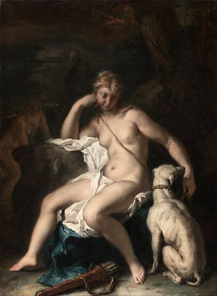 Diana and Her Dog, Sebastiano Ricci von Meesterlijcke Meesters