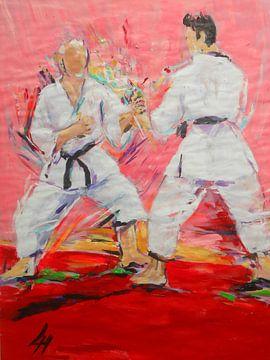 Karate - Jiyu Kumite von Lucia Hoogervorst