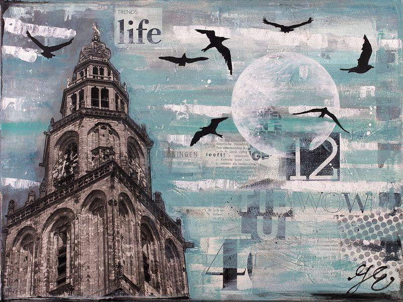 Groningen en vogels van Janet Edens