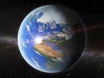 De Aarde vanuit de ruimte van Frans Blok