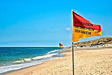 Sylt: Baden tussen vlaggen van