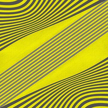 OP-Art  - gelb und grau von Christine Nöhmeier