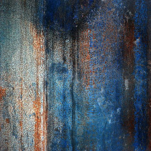 Abstract in blauw oranje