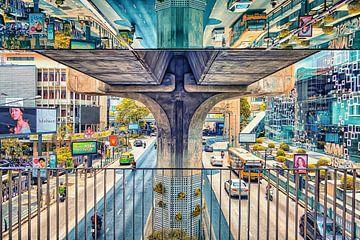 Spiegelreflektion von Bangkok Thailand von Bernd Hartner