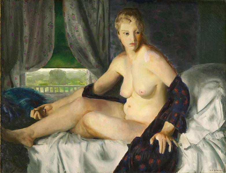 Nude with Fan, George Wesley Bellows von Meesterlijcke Meesters