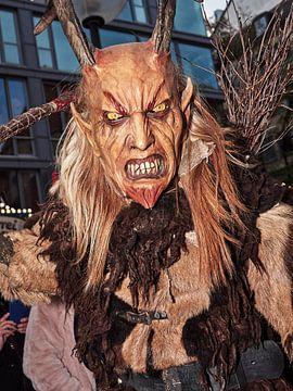 Krampus met houten masker van Christian Mueller