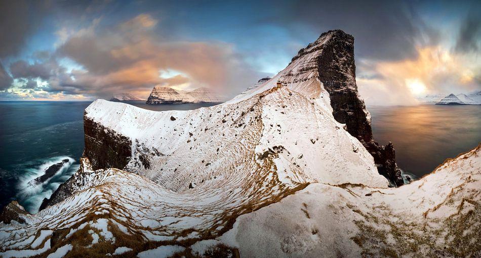 Kallur winter panorama van Wojciech Kruczynski