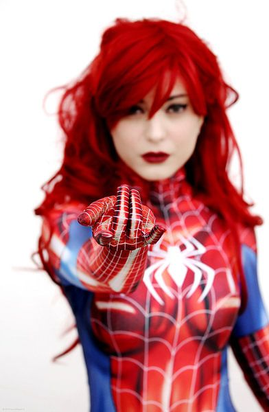 cosplay fille araignée sur Atelier Liesjes