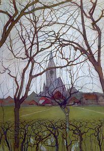 Piet Mondriaan. St Jacob's Kerk Winterswijk van
