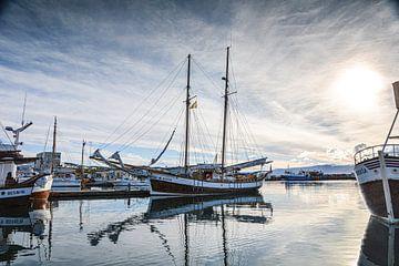 Haven (Husavik)  in IJsland. van Mariette Jans