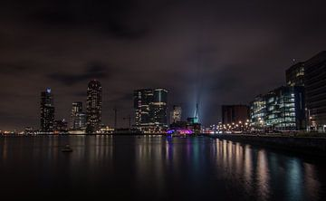 Skyline Erasmusbrug Rotterdam van Jolanda Wisselo