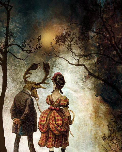 VINTAGE COUPLE BY ABSTRACT AUTUMN II van Pia Schneider