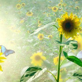 Sunflower delight van Leon Brouwer