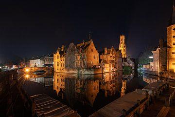 Het hartje van de stad Brugge. van Simon Peeters