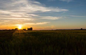 zonsondergang bij de molen van Marcel Kerdijk