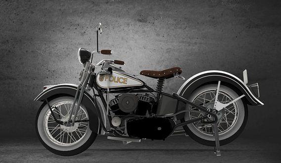 politie motor vintage
