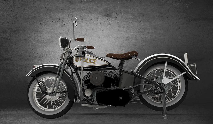 politie motor vintage van H.m. Soetens