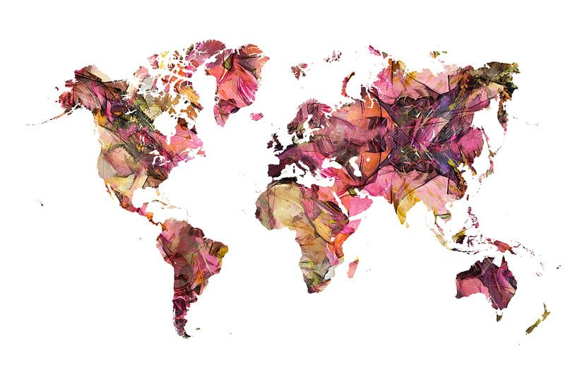 Weltkarte 4 #Karte #Weltkarte von JBJart Justyna Jaszke