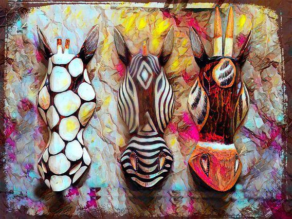 African Safari Abstrakt