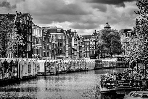 Bloemenmarkt Amsterdam van Melanie Viola