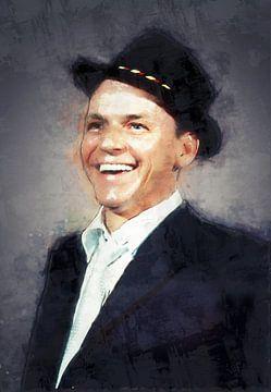 Olieverf portret van Frank Sinatra van Bert Hooijer