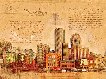 Boston van Printed Artings