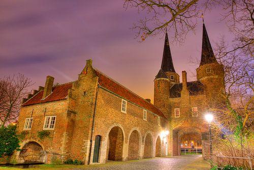 Delft Oosterpoort in de avond