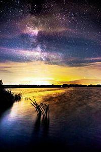 Melkweg bij het water van