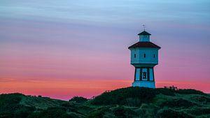 Wasserturm von Langeoog am frühen Morgen