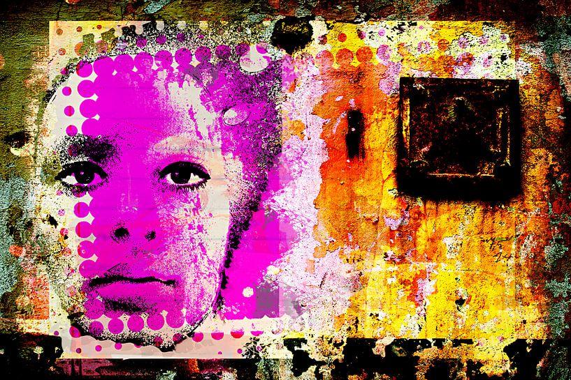 Wall printed face von PictureWork - Digital artist