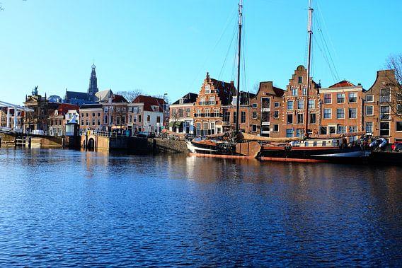 Haarlem, uitzicht op het centrum van Haarlem