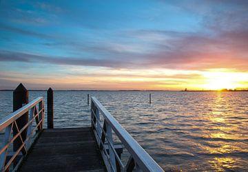 goldener Sonnenuntergang von Nico Olsthoorn