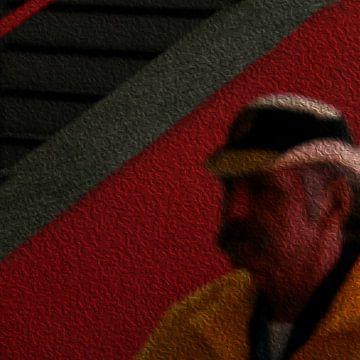 Man met hoed van Marcel Waterman