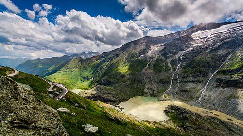 Oostenrijk bergpas uitzicht