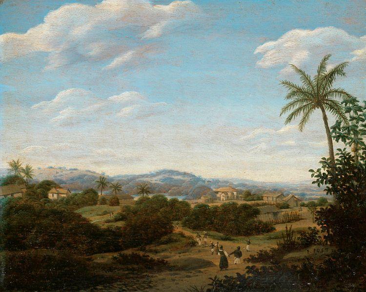 Brasilianische Landschaft, Frans Jansz Post von Meesterlijcke Meesters