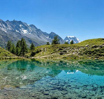 Lac Bleu, La Gouille, Val d'Hérens, Wallis, Wallis, Schweiz von Rene van der Meer