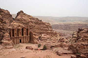 De Monastery in Petra von Gert-Jan Siesling