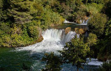 Krka watervallen, Kroatië van Adelheid Smitt