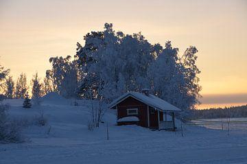 Lapland met schemer van Marcel Schouten